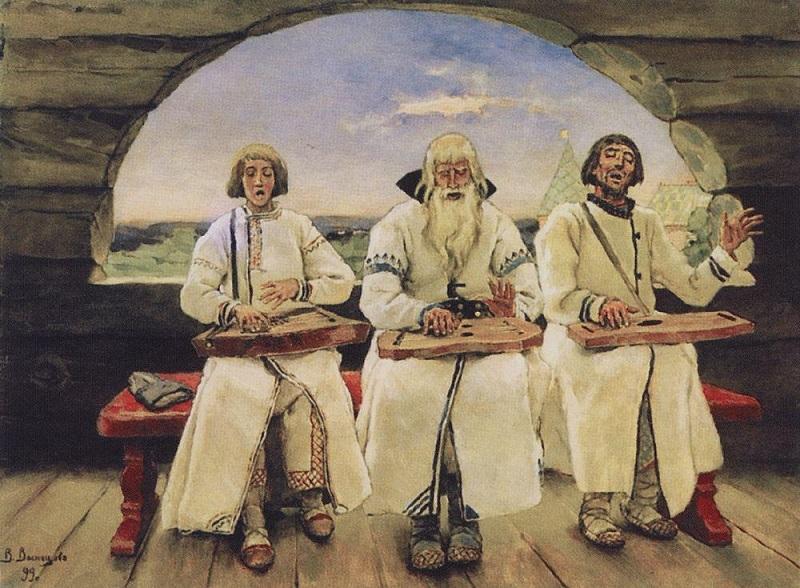 Васнецов В. М. Гусляры (1899)