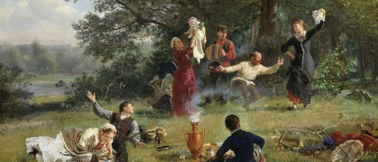 Корзухин А. И. Воскресный день (1884)