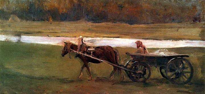 В. А. Серов «Баба в телеге» (1896)