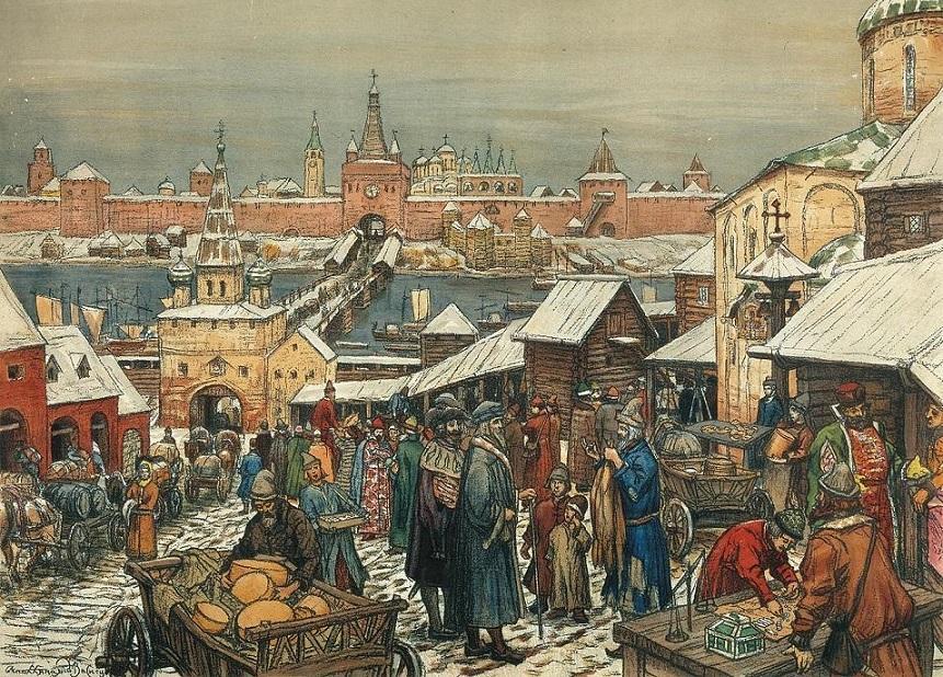 А. М. Васнецов - Торг в древнем Новгороде (1908-1909).jpg