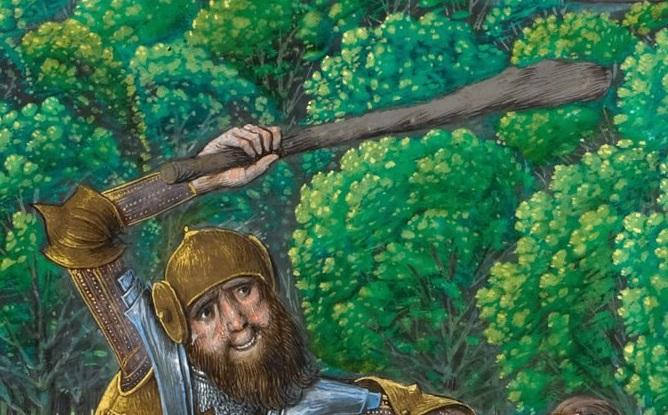 Геркулес. Фрагмент рисунка XV в., Франция