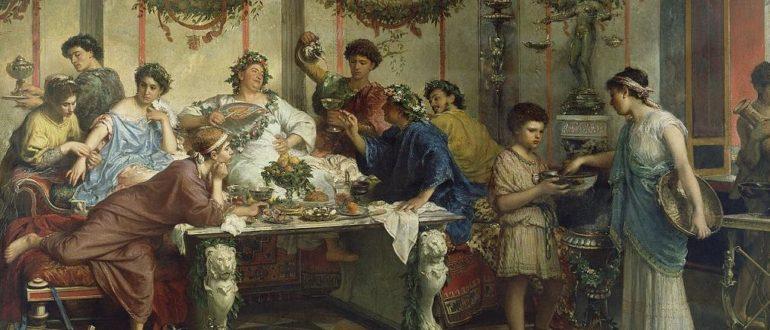 Р. Бомпиани - Римский пир