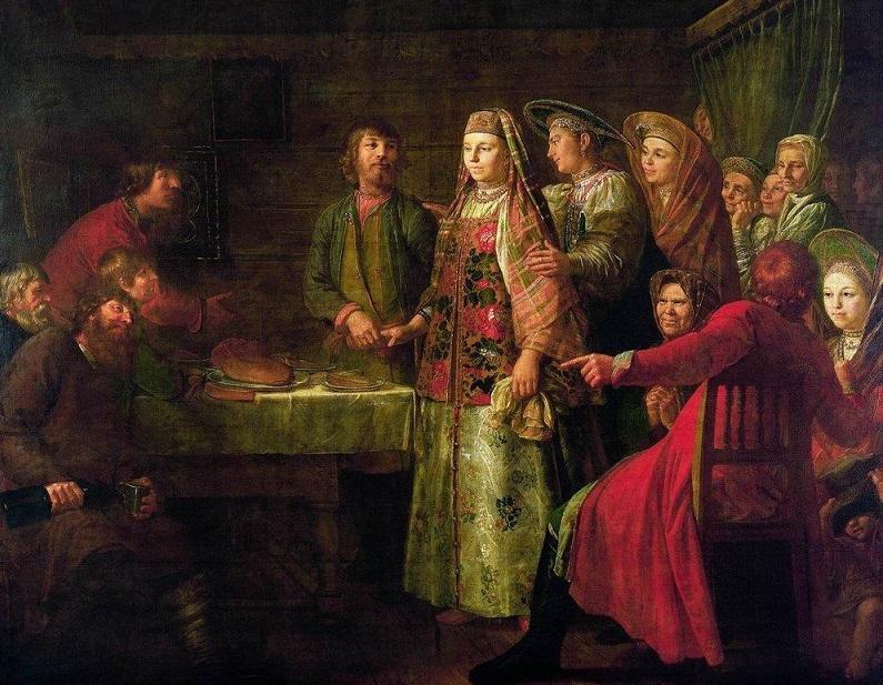 Михаил Шибанов - Празднество свадебного договора (1777)