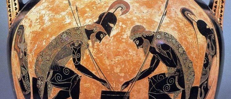 Эксекий. Аякс и Ахилл играют в кости