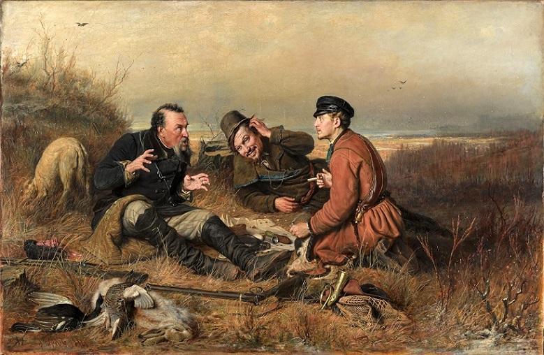 Перов В. Г. Охотники на привале (1871)