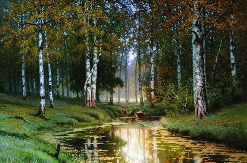 Волков Е. Пейзаж с рекой (1893)